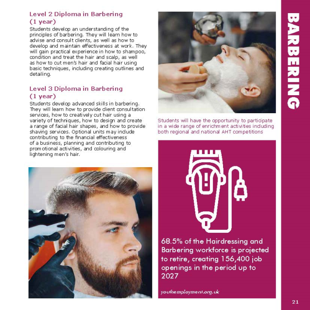 Barbering page